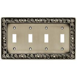 Brainerd Paisley Quad-Switch Wall Plate, Available in Multip