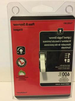 Pass & Seymour  T600-LWV : TOGGLE DIMMER 600W/SP LIGHTED W C