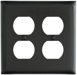 Pass & Seymour TP82BK Trade Master Nylon Wall Plate withTwo