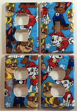 Paw Patrol Light Switch Plate Outlet Cover Bedroom Bath Wall