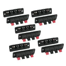 uxcell 10Pcs PCB Mount 1 Row Vertical 4 Position 4 Pin Speak