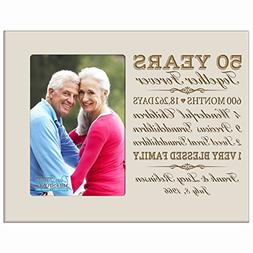 Personalized fifty year anniversary gift for her him couple