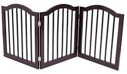 Internet's Best Pet Gate with Arched Top | 3 Panel | 24 Inch