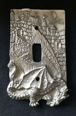 PEWTER SILVER GOTHIC DRAGON CASTLE MOON STARS METAL LIGHT SW