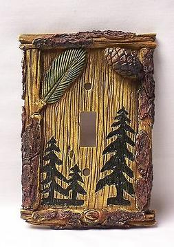 Pine Tree Single Light Switch Plate Cover Home & Cabin Decor