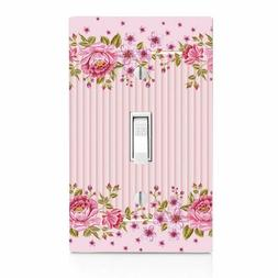 Pintuck Pink Roses, Light Switch, Wall Plate Toggle Decor Sw