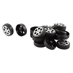 Plastic Roll 2mm Dia Shaft Car Truck Model Toys Wheel 30mmx9