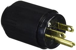Hubbell 515P Plug, 15A, 125V, Select-Spec, 5-15P, Black