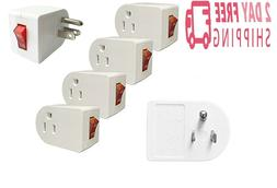 Plug In Cord Outlet Switch With Safety Reminder Light On/Off