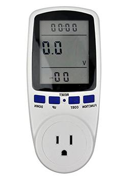 PPCS Plug-in Power Consumption Meter Energy Electricity Usag