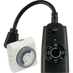 Plug In Weather Resistant Outdoor Light Sensing Timer And Pl