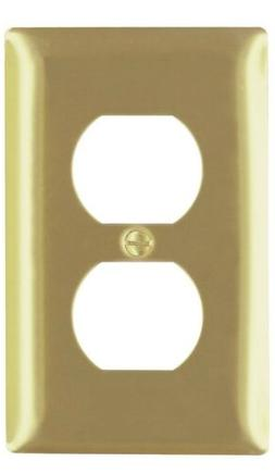 Pass & Seymour Polished Brass 1-Gang Duplex Outlet Wallplate