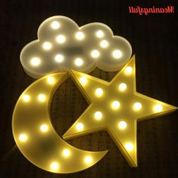 Promotion 3D Marquee Cloud Star Moon Led Night <font><b>Ligh