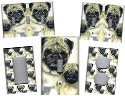 PUG DOGS HOME WALL DECOR LIGHT SWITCH PLATES OR OUTLETS