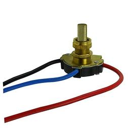 Push Button - On/Off Canopy Switch - 3 Way - Polished Brass