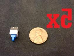 5x Push Button Latching Tactile Switch 7x7mm Blue Button 3-p
