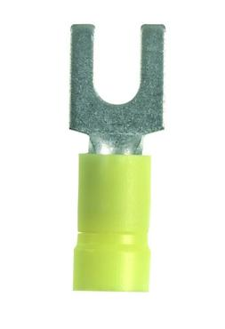 Panduit PV10-6F-L Fork Terminal, Vinyl Insulated, Funnel Ent