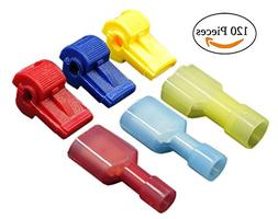 Quick Splice T-Tap Connectors 120 Pieces Electrical Insulate