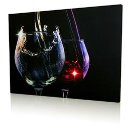 Radiance Lighted Wine Canvas Print - Wine Glasses with LED l