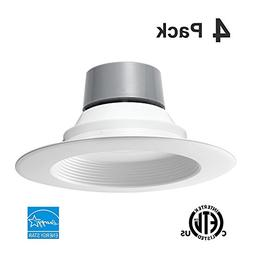 "4 Pack 18W  5/6"" LED Recessed Downlight Retrofit Can Light E"