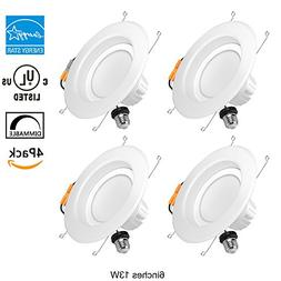 6 Inch LED Recessed Lighting Retrofit Fixture Dimmable 13W