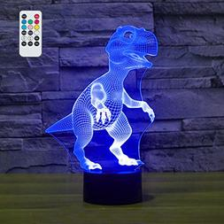 Remote Control LED Dinosaur Night Light With 7 colors and T