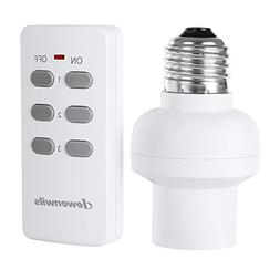 DEWENWILS Remote Control Light Lamp Socket E26/E27 Bulb Base