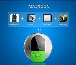 Remote IP WiFi Interphone Webcam HD Doorbell Peehole Night V
