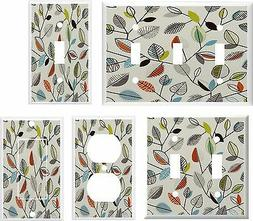 RETRO STYLE LEAVES LIGHT SWITCH COVER PLATE OR OUTLET  U PIC