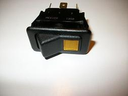 Eaton ROCKER SWITCH 5 FLAT POST WITH A POWER ON LIGHT. Two p
