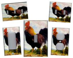 ROOSTER KITCHEN HOME DECOR LIGHT SWITCH PLATES AND OUTLETS