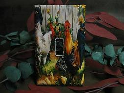 Roosters Light Switch Wall Outlet Plate Cover #1 - Variation
