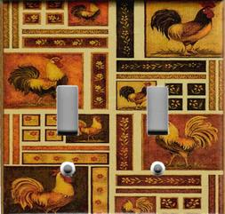ROOSTERS MOSAIC TUSCAN KITCHEN HOME DECOR LIGHT SWITCH PLATE