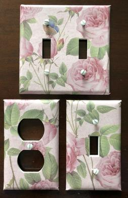 ROSE LIGHT SWITCH COVER PLATES OUTLETS VINTAGE COUNTRY DECOR