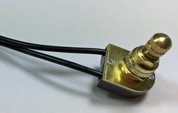Rotary brass canopy electrical lamp light switch 3/8 nipple