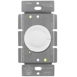 Rotary Dimmer Lighted Switch 3 Way Push On Off Incandescent