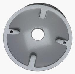 Hubbell Electrical  Round Lampholder Cover Gray