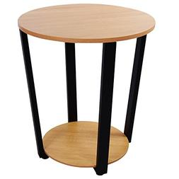 Lifewit 2-tier Modern Round Side/End Table/Nightstand/Coffee