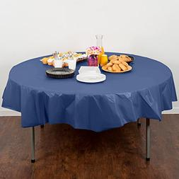 Round Table Cover Navy Blue