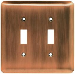 Brainerd Rounded Corner Double Switch Wall Plate, Available