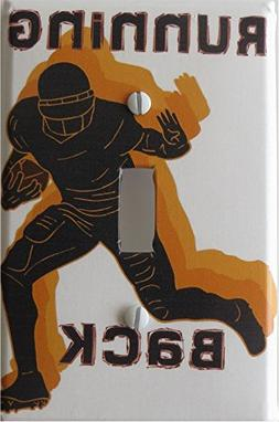Running Back Football Switch Plate Covers / Single Toggle Fo