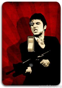 Scarface Red Light Metal Switch Plate Cover Home Wall Decor