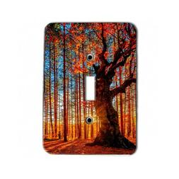 Scenic Forest Fall Autumn Trees Metal Light Switch Plate / S