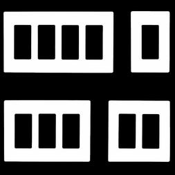 Screwless Decorator Wall Plates Receptacle Outlet Covers 1-5