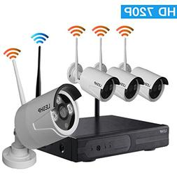 Video Security System, LESHP HD 720P 4CH Video Security Syst