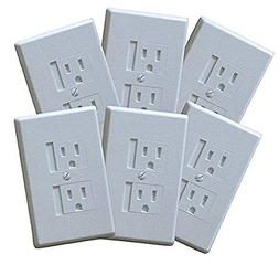 Self-closing Single Screw Outlet Covers- 2 Pack