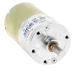 6mm Shaft Permanent Magnetic Gear Box Motor 100 RPM Speed DC