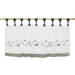 ISINOTEX Sheer Organza Kitchen Embroidered Coffee Curtains R