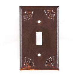 Single Electrical Light Switch Cover Metal Plate with Chisel