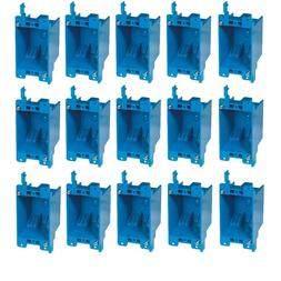 """10-Pc 14"""" Single-Gang Wall Outlet Switch Old-Work Plastic El"""
